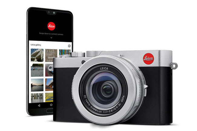 Leica D-Lux 7 front view and mobile app