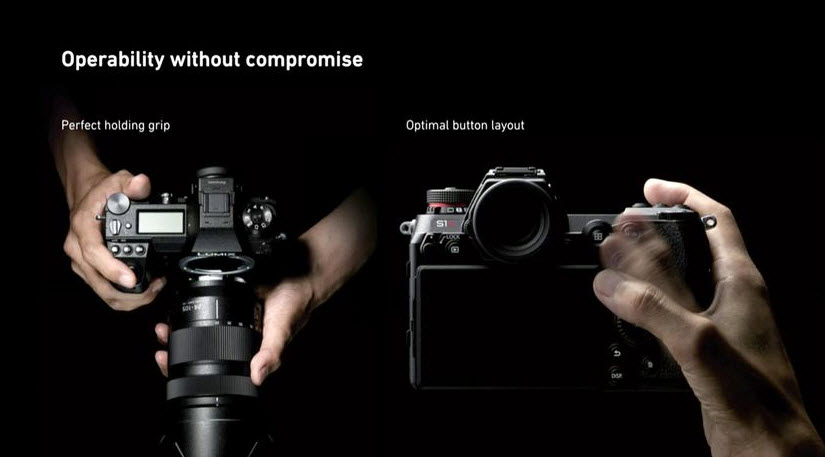Panasonic S1R increased operability and optima button layout