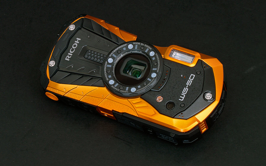 Ricoh WG-60 in gold and black