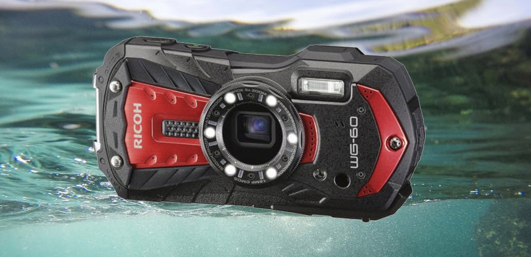 Ricoh WG-60 is waterproof